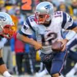 New England Patriots quarterback Tom Brady (12) during the game.